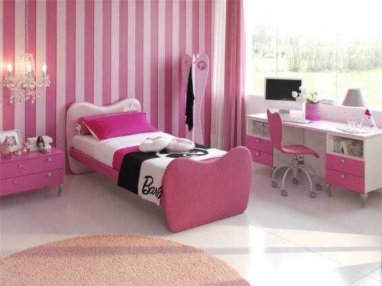 15 cool ideas for pink girls bedrooms home design for Bedroom ideas for teenage girls 2012