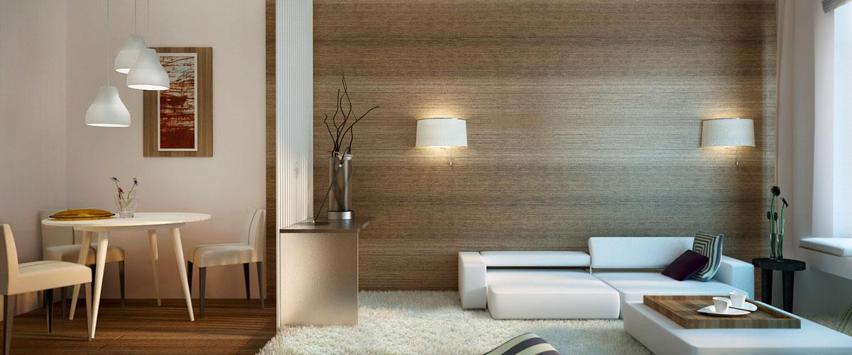 Decorating a small apartment it is difficult or easy for Design apartment 50m2
