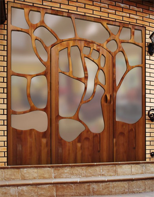 Unique door designs by victor klassen home design - Pintura puertas interiores ...
