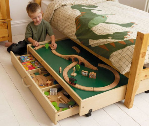 Smart Under the Bed Trundle Playtable Home Design