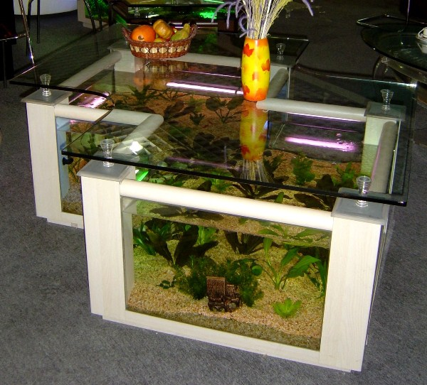 make fish tank coffee table