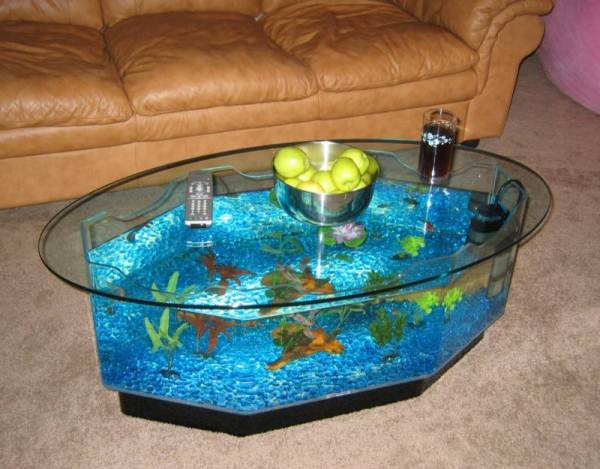 aquarium furniture creative coffee table aquarium home. Black Bedroom Furniture Sets. Home Design Ideas