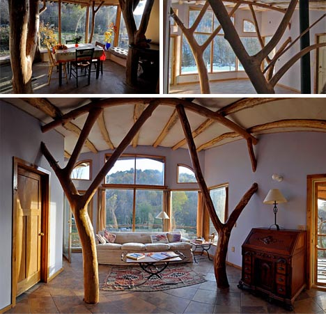 Lovely ideas to decorate your interior with tree branches home design garden architecture - Design tree home ...