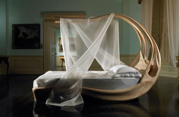 A Piece of Art: Enignum Canopy Bed by Joseph Walsh