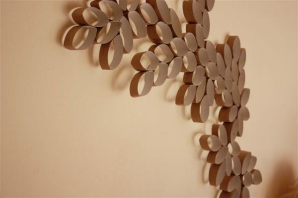 Diy project toilet paper roll wall art home design for Diy using toilet paper rolls