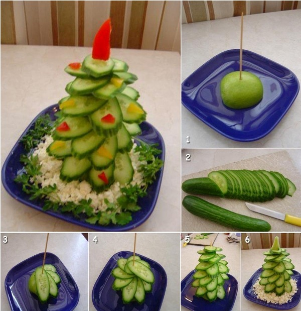 Fruit Christmas Tree !!! Awesome Thing To Try At Home On