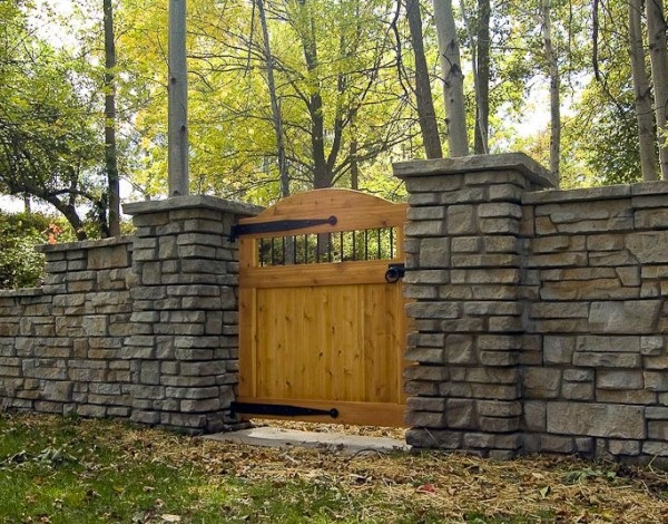 Creative stacked stone wall ideas home design garden Garden wall color ideas