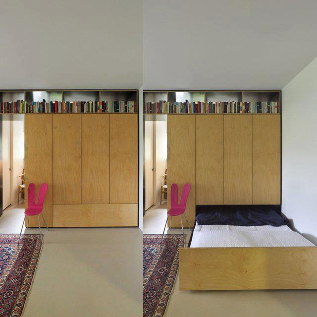 Small Apartment With Innovative Hidden Bed By Anthony Gill