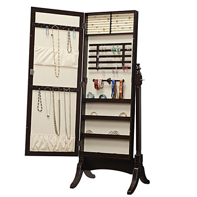 Stylish collection jewelry armoire cheval mirror home for Mirror jewelry cabinet