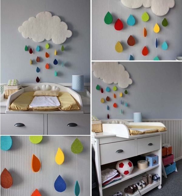 Gorgeous rain cloud mobile baby room decor home design for Baby bedroom decoration