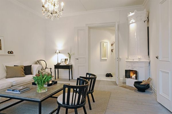 lovely apartment displaying an elegant white color scheme
