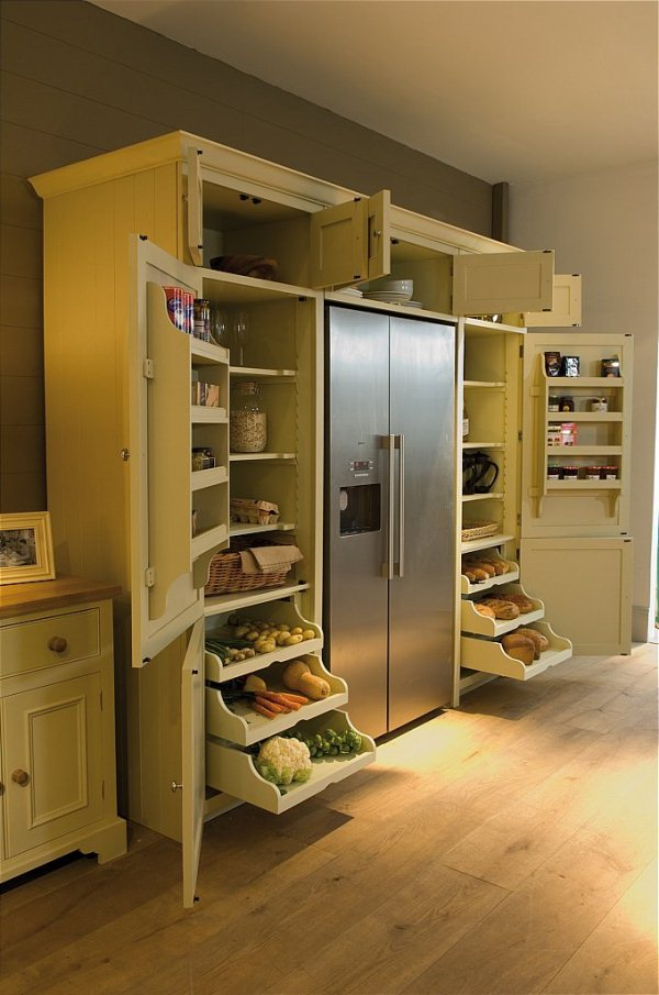 Innovative solution for your kitchen with grand larder for Kitchen unit design