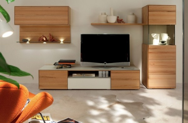 wooden finish wall unit combinations from h lsta home. Black Bedroom Furniture Sets. Home Design Ideas