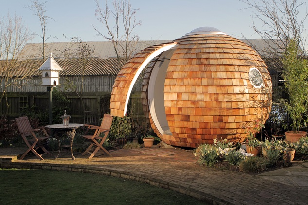 Efficient, Ergonomic, and Unusual Garden Office: The Archipod