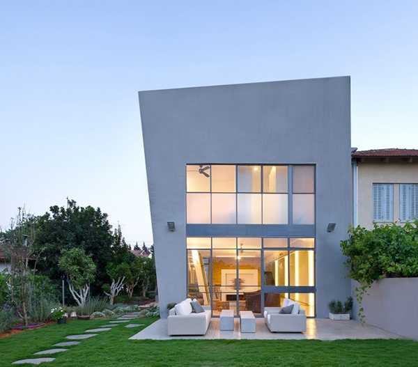 modern and minimalistic design with asymmetric shape in