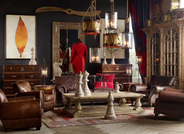 awesome antique modern living room designs | Awesome Collection of Vintage Room Designs by Timothy ...
