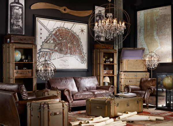 Awesome collection of vintage room designs by timothy oulton home design g - Decoration interieur vintage ...