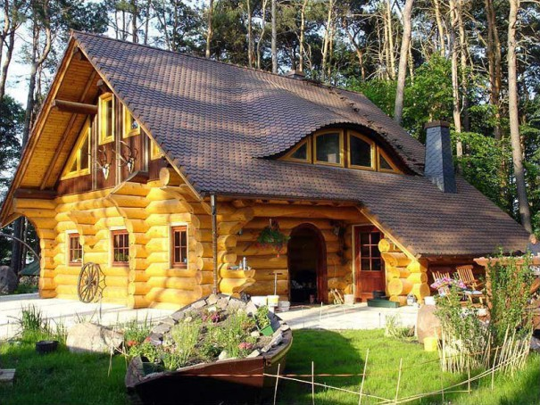 Refined And Very Attractive Log Home Home Design Garden