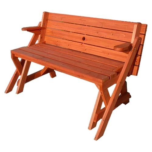 Two in One Convertible Bench and Picnic Table | Home Design, Garden ...