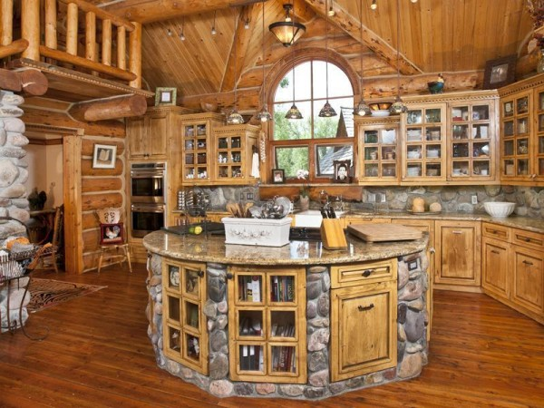 Build a Log Home and Make a Dream KitchenInside Houses Kitchen