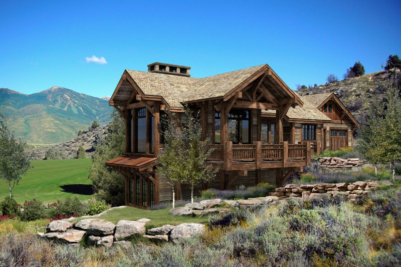 Build A Log Home And Make A Dream Kitchen Home Design