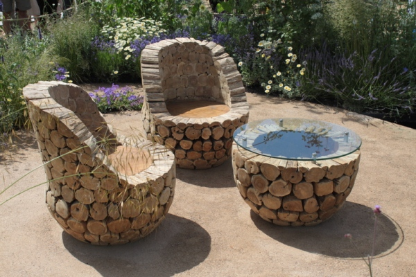 Unique Outdoor Furniture Handmade From Oak Wood Home