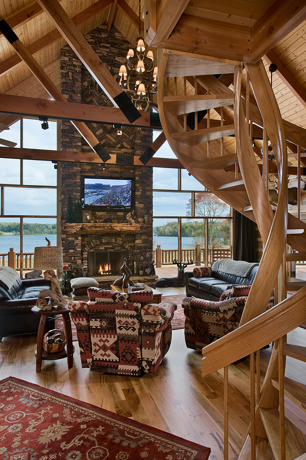 Charming Log Home Near A 155 Acre Lake Home Design Garden