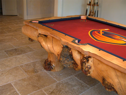 Amazing Log Pool Tables Home Design Garden