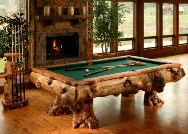 Amazing log pool tables home design garden for Amazing table