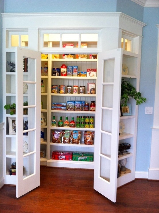 an organized space makes it a better space with food packages coming