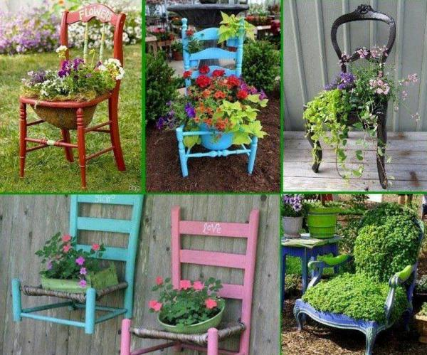Give your old chair a second chance and turn it into a for Decoration exterieur jardin
