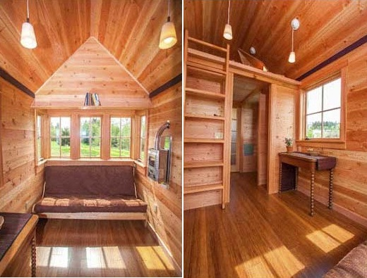 Cozy Tiny House: Affixed To A Trailer Or Secured To A