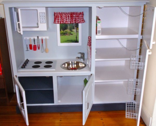 Play Kitchen Made from TV Cabinet   Home Design, Garden ...