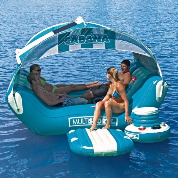 Cabana Islander Inflatable Six Person Lounge Home Design