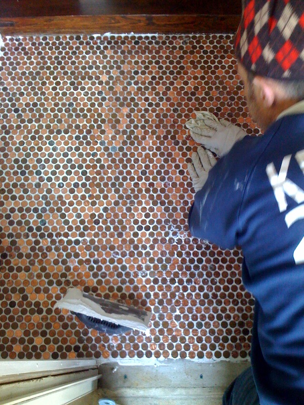How To Make A Beautiful Floor With A Few Pennies Sq Ft