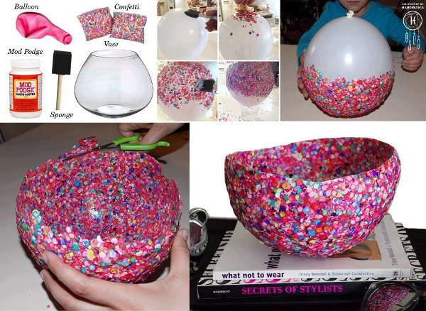 How To Make Decorative Confetti Bowls Home Design
