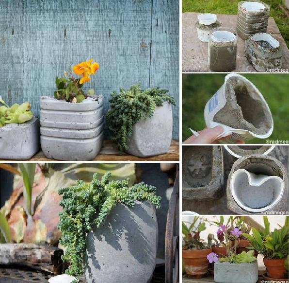 make your own concrete planters home design garden