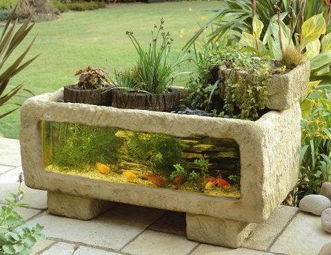 Awesome outdoors aquarium home design garden for Outdoor fish ponds for sale