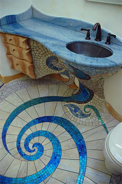 Unique Bathroom Tile Design Ideas ~ Unique and amazing mosaic bathroom design home