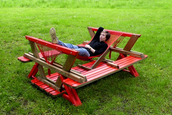 Picnic Table Hammock | Home Design, Garden & Architecture Blog ...