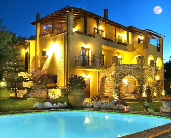 Luxury holiday in greece at bozonos luxury villa home for Luxury style homes