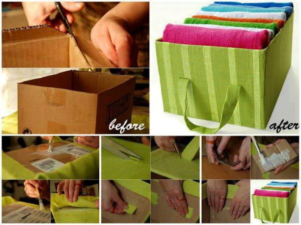 Recycle And Organize Box For Organizing Towels Home