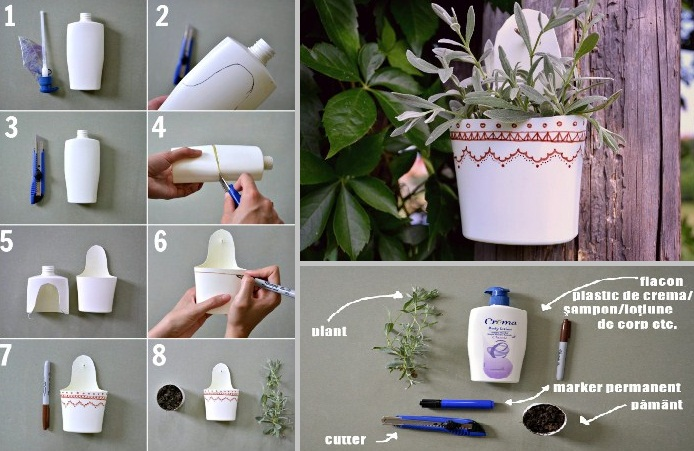 Creative recycling tutorial using plastic bottle home for Creative things out of waste