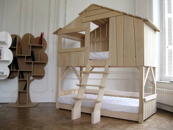 unique bunk beds home interior design. Black Bedroom Furniture Sets. Home Design Ideas
