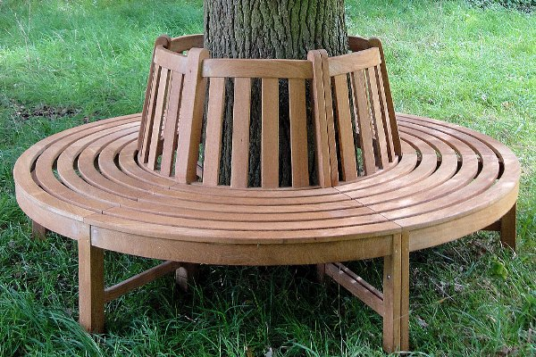 How to Build a Bench Around a Tree | Home Design, Garden ...