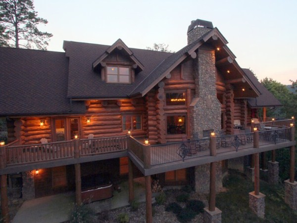 Magnificent custom log home home design garden for Unique log homes