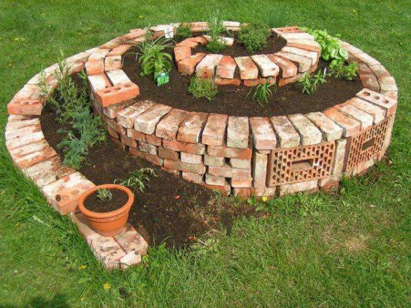 How to build a herb spiral home design garden for Decoration jardin spirale