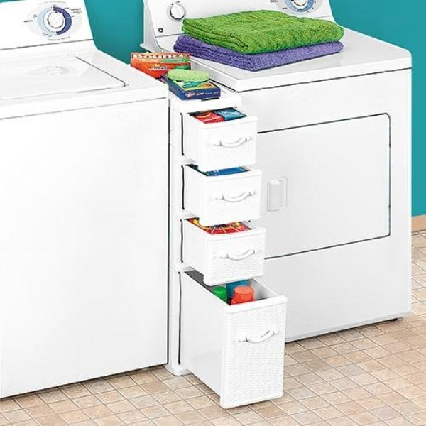 Clever Laundry Accessories Organizer Fits Between Washer Dryer