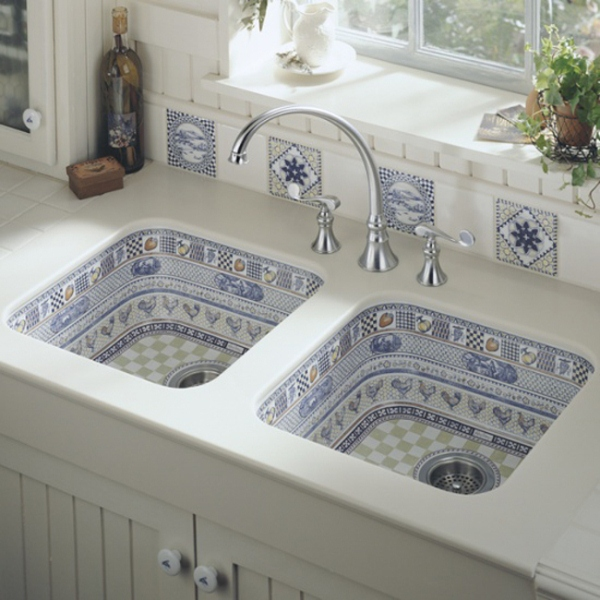 beautiful kitchen sink design by kohler home design kohler k 5818 4 0 hartland self rimming kitchen sink with