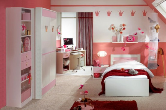 15 Cool Ideas For Pink Girls Bedrooms | Home Design ... on Girls Room Decor  id=39822